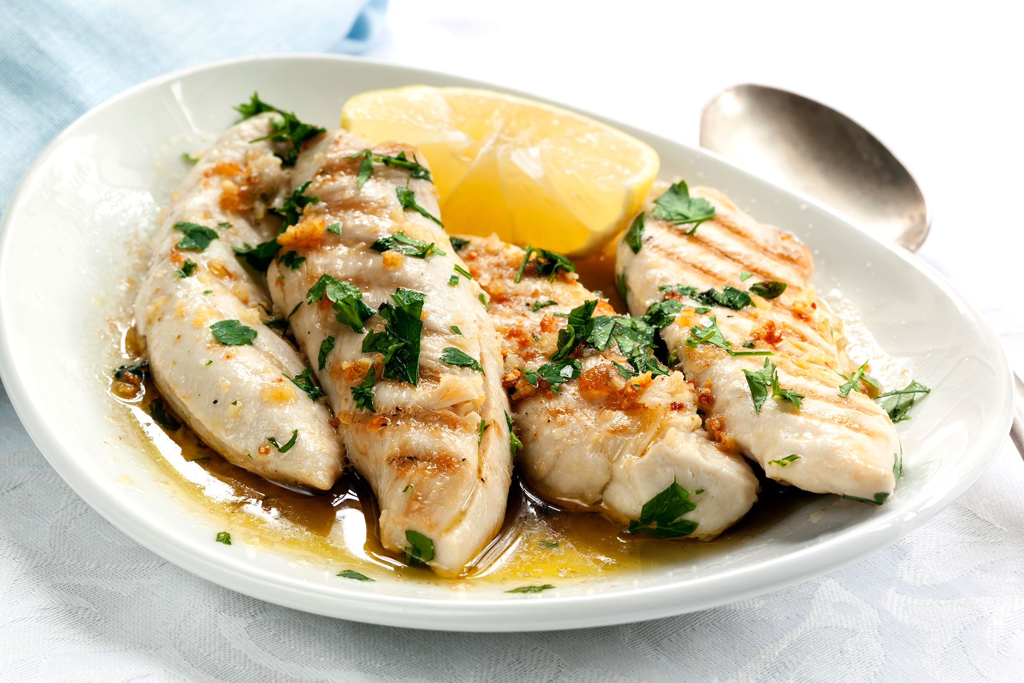 Grilled Chicken With Walla Walla Onion & Mint
