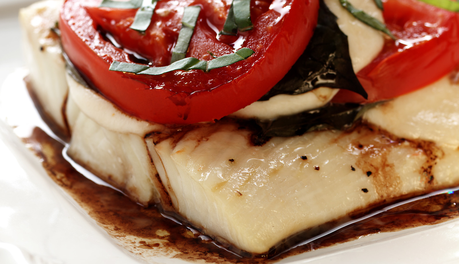 Broiled Halibut Caprese
