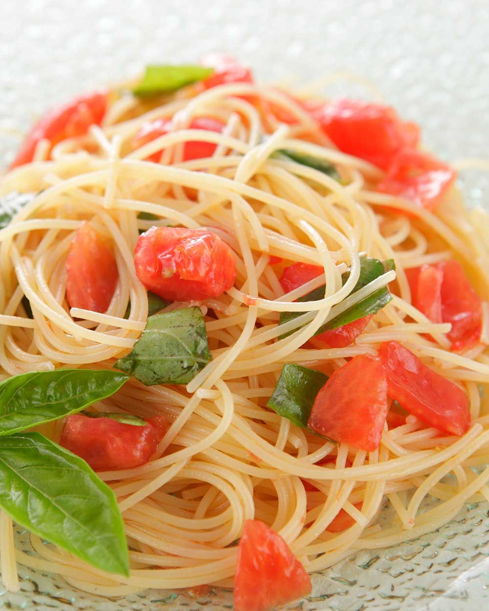 Fresh Tomatoes With Angel Hair Pasta