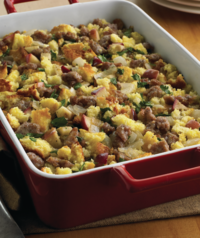Amazing Sourdough Stuffing with Apples and Sausage