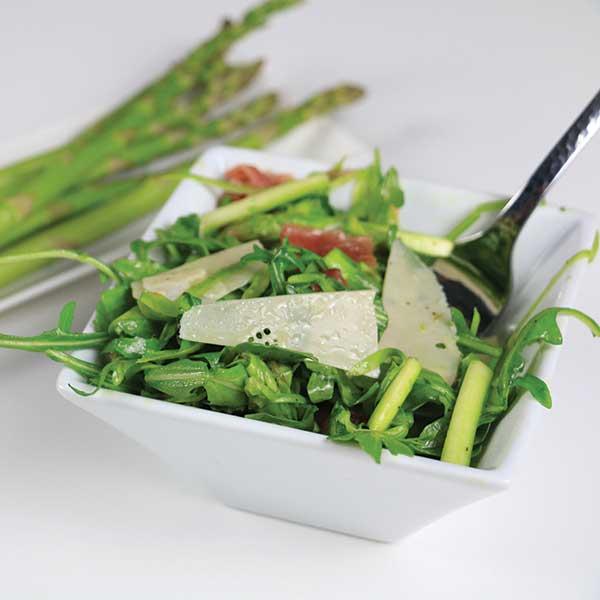Arugula and Asparagus Ribbon Salad