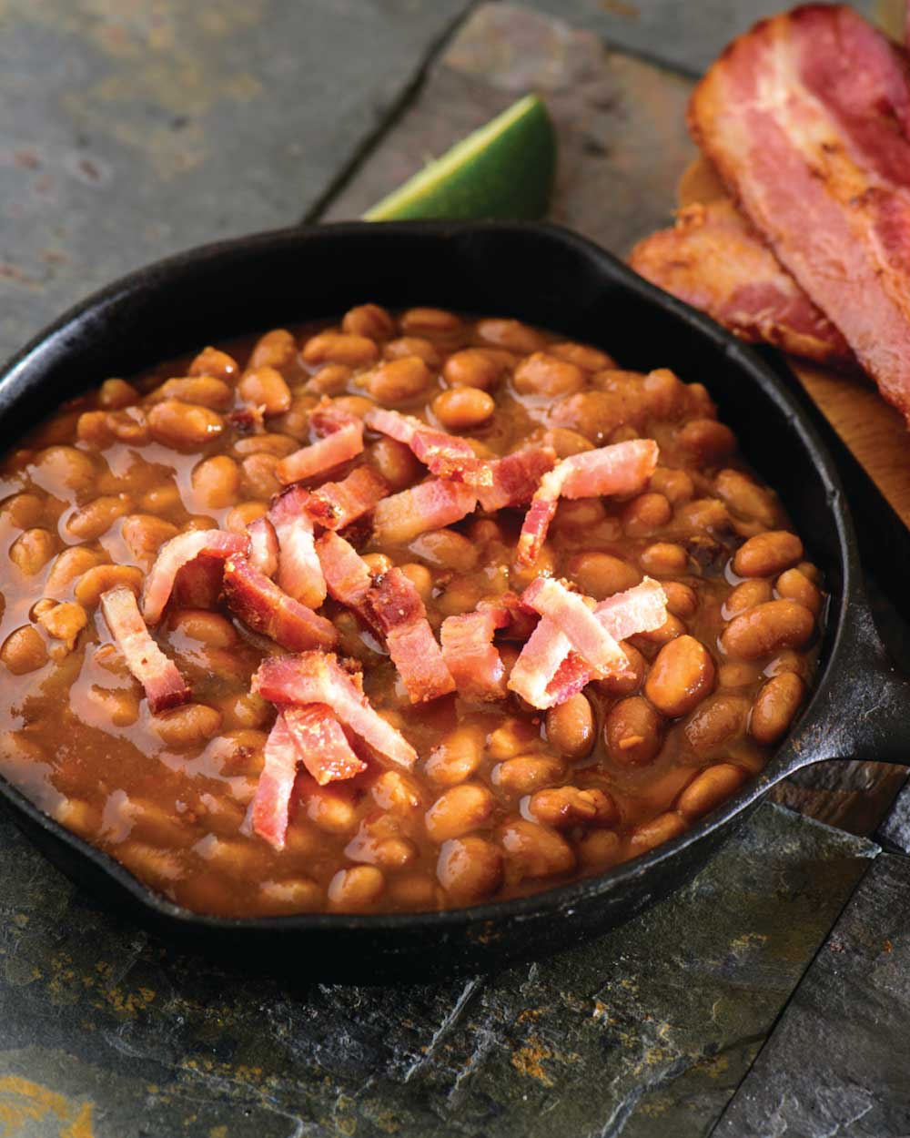 Bacon, Onion and Brown Sugar Baked Beans