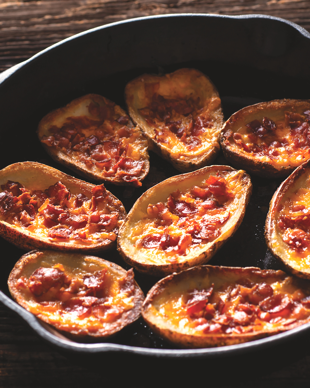 Baked Potato Skins with Pizza Toppings