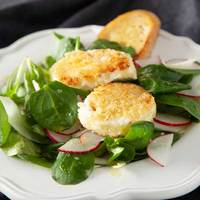 Bistro Salad with Warm Goat Cheese Croutes