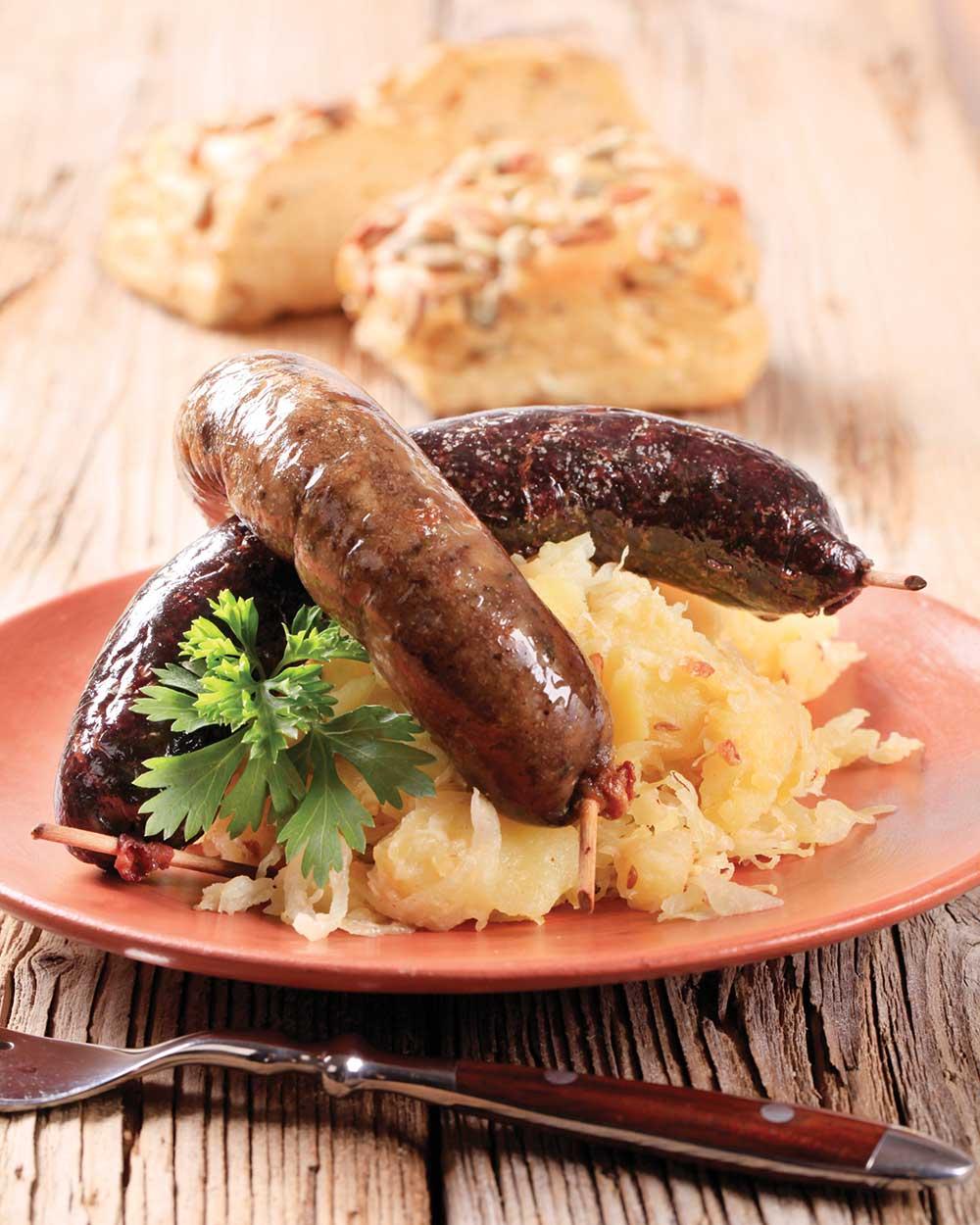 Beer Bratwurst with Sauerkraut