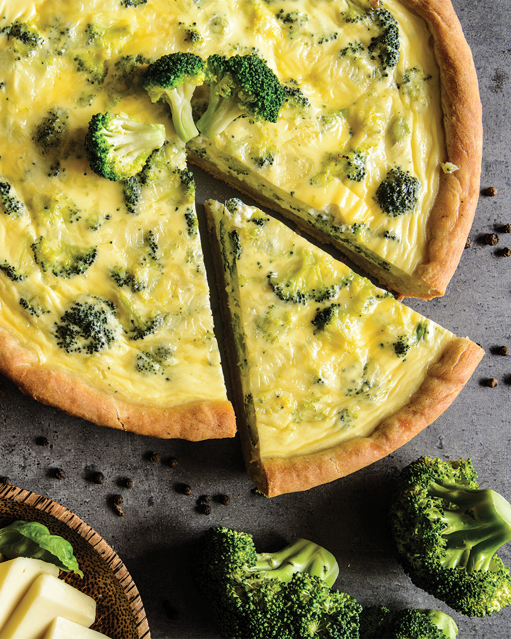 Mini Broccoli Cheddar Quiche