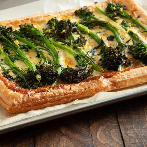Broccolini and Fontina Tart