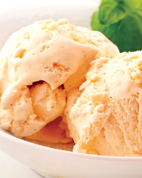 Sweet and Tart Cantaloupe Ice Cream