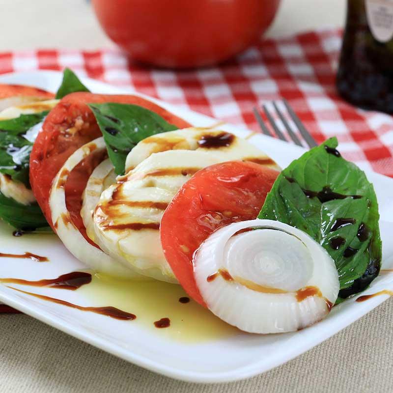 Walla Walla Sweet Onion Caprese Salad