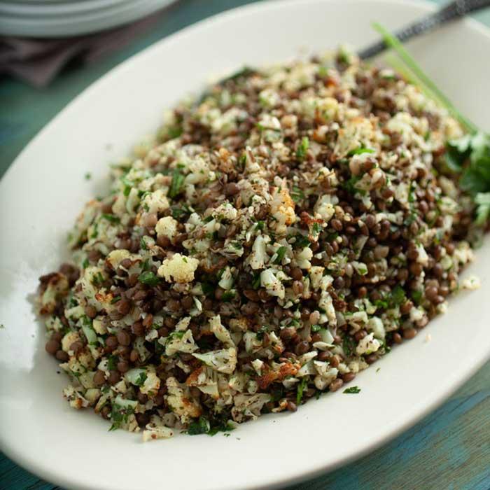 Cauliflower Rice Salad with Za'atar