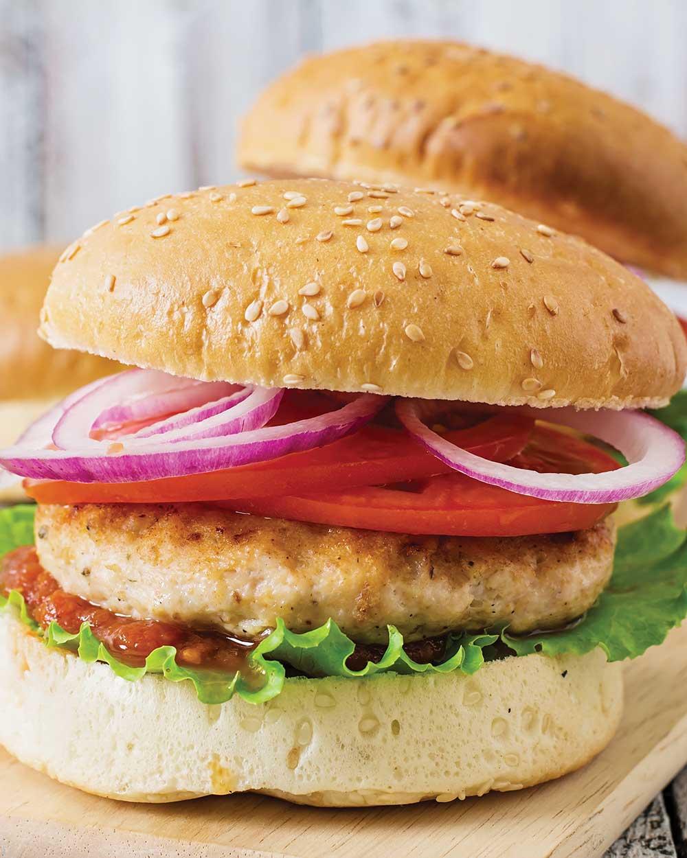 Chicken Cordon Bleu Burgers