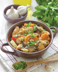 Zesty Slow Cooked Potato and Chicken Stew