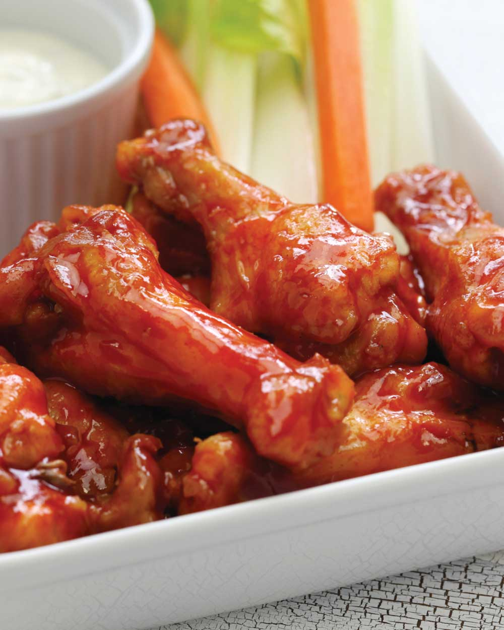 Baked Barbecue-Style Chicken Wings