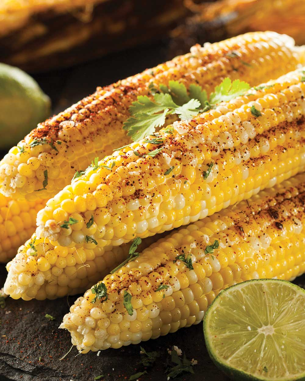 Easy Grilled Corn on the Cob with Lime Juice and Chili Powder