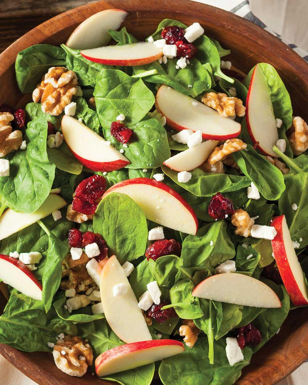 Cranberry Apple Walnut Salad