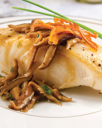 Halibut with Crispy Shallots and Lemon Butter
