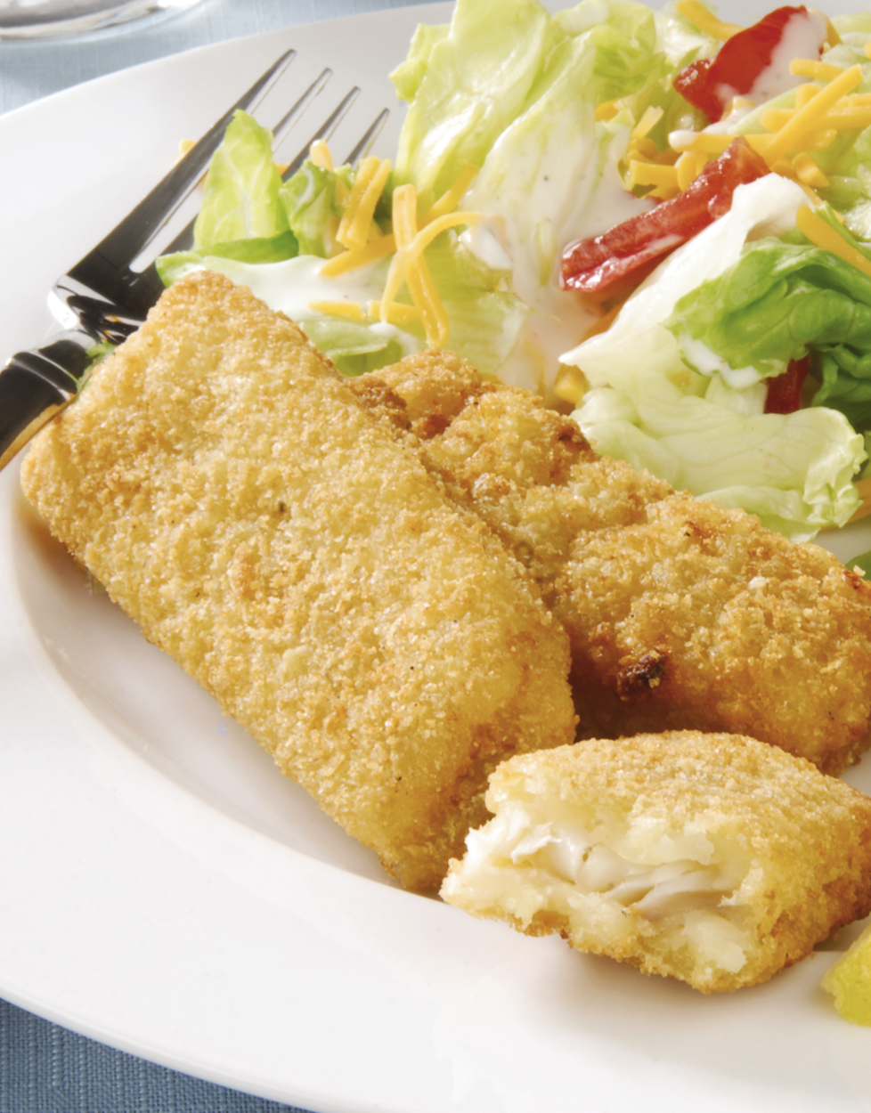 Extra Crispy Baked Fish Sticks