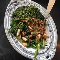 Broccoli with Walnut Pesto and Garlic