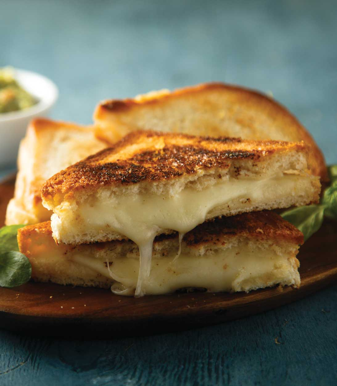 American, Cheddar and Swiss Sourdough Grilled Cheese Sandwiches