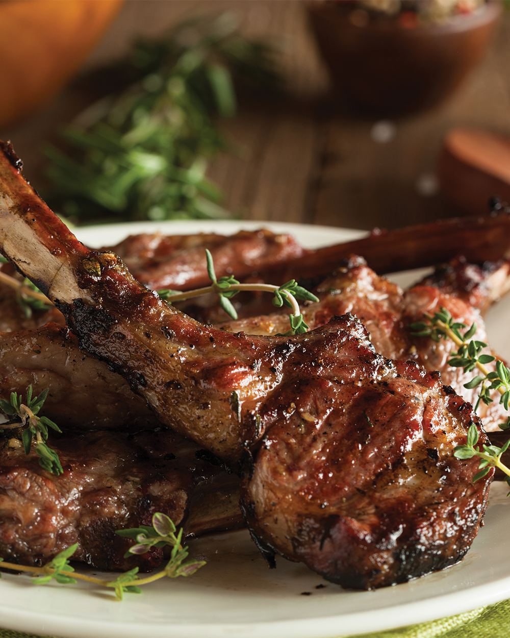 Grilled Lamb Loin Chops