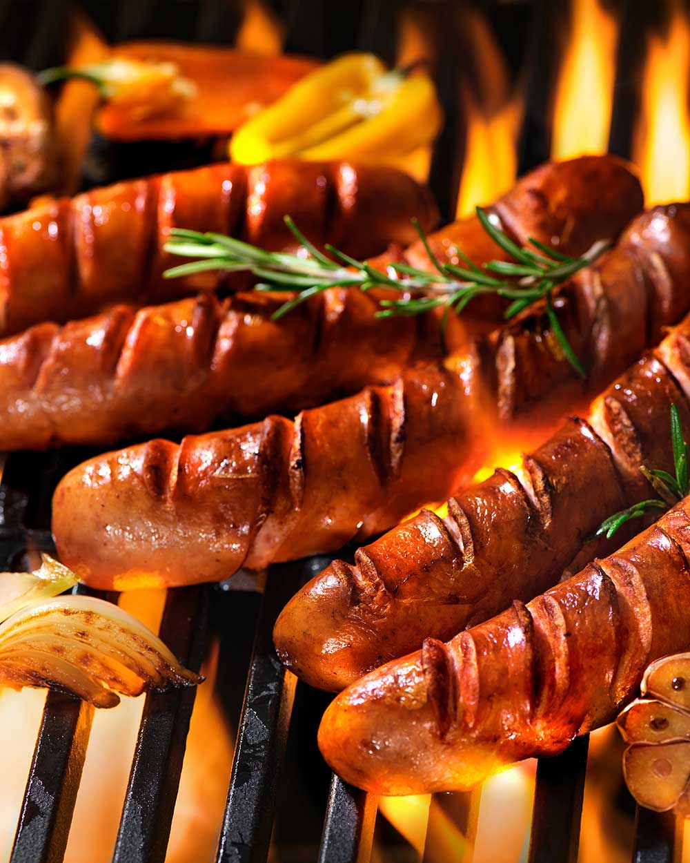 Grilled Brats with German Potato Salad