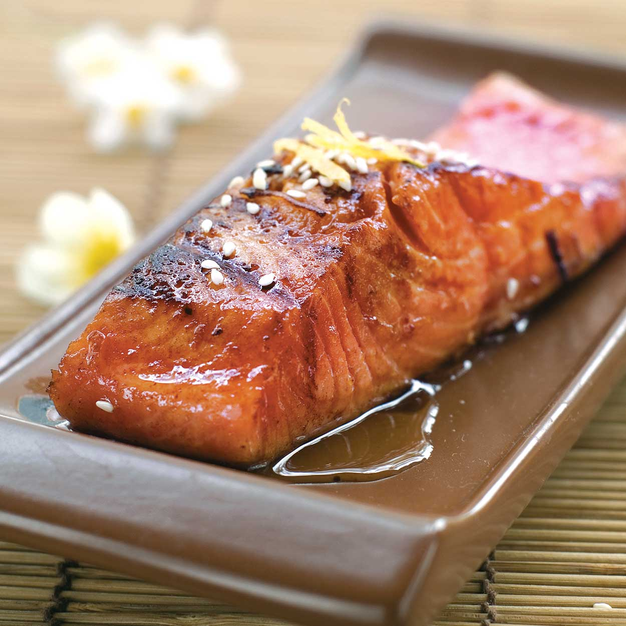 Baked Salmon with Brown Sugar Glaze