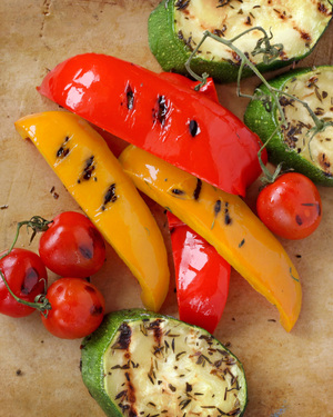 Grilled Sweet Peppers