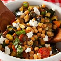 Grilled Vegetable, Tomato, and Goat Cheese Salad