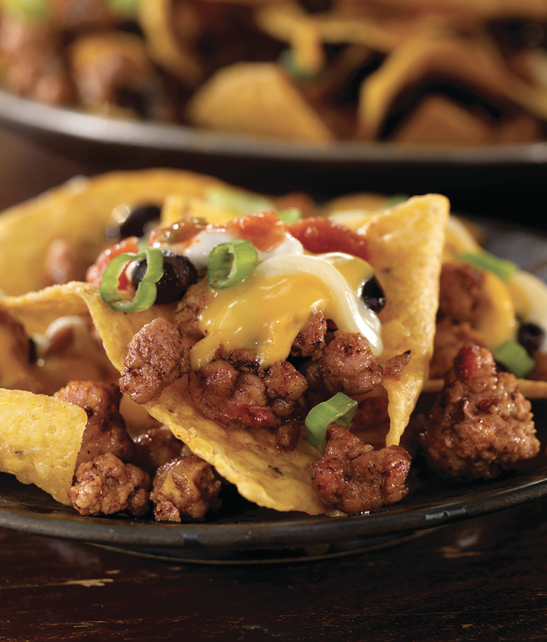 Cheesy Ground Pork Nachos
