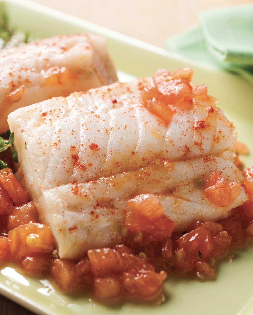 Seared Opah with Tomato Concasse