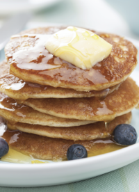 Honey Wheat Greek Yogurt Pancakes