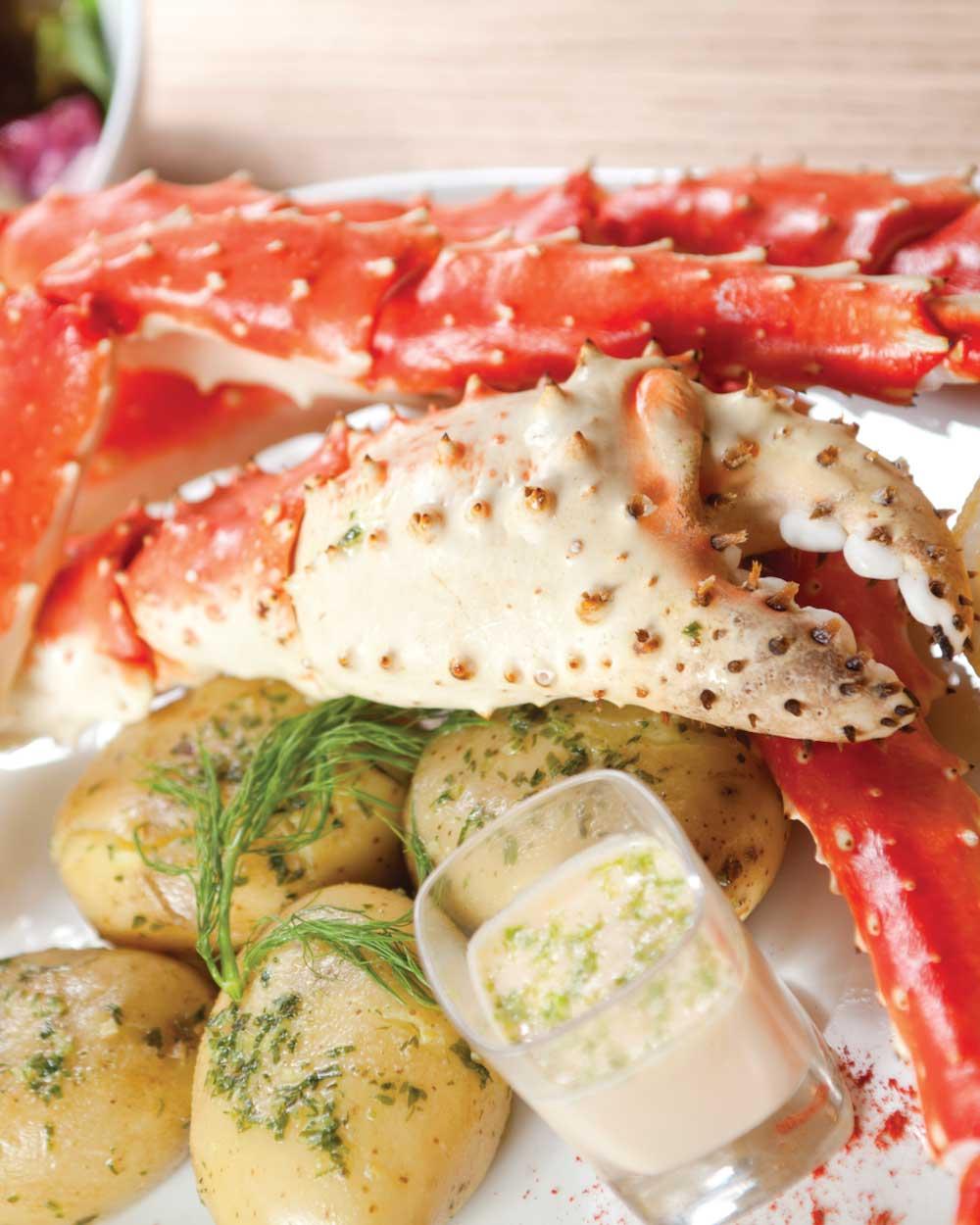 Baked Alaskan King Crab Legs