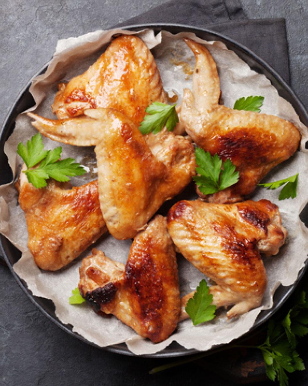 Lemon Garlic Cuban Chicken Wings
