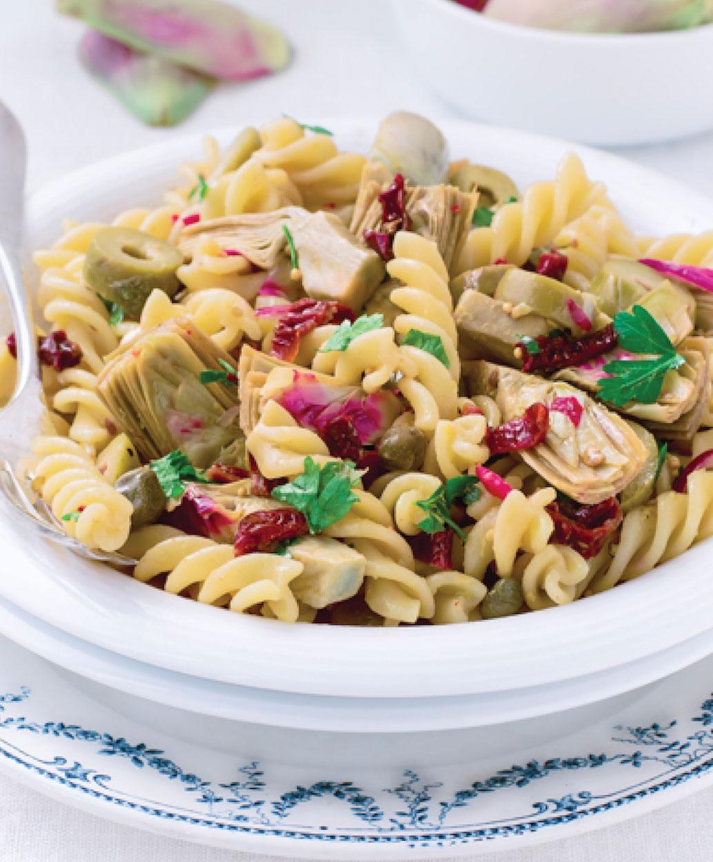 Mushroom and Artichoke Pasta
