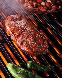 Grilled Steak with Hatch Chile Chimichurri Sauce