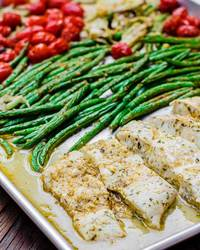Mediterranean Halibut with Vegetables