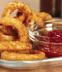 Barbecue Baked Onion Rings