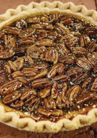 Pecan Crusted Pumpkin Pie