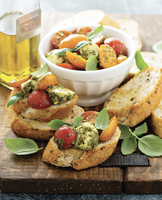 Caprese and Garlic-Butter Bread