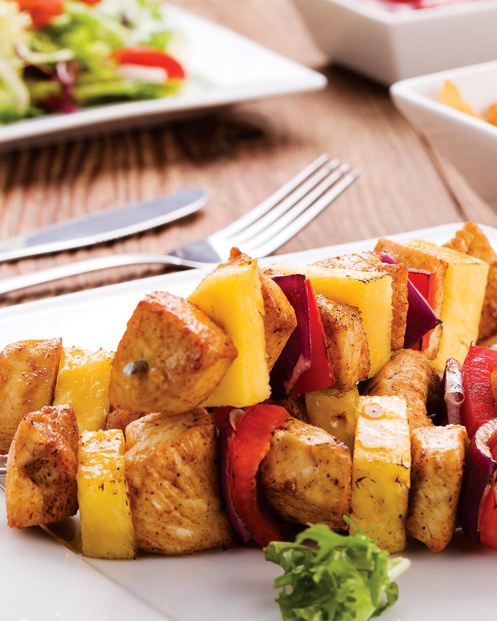 Flavorful Chicken & Vegetable Kabobs