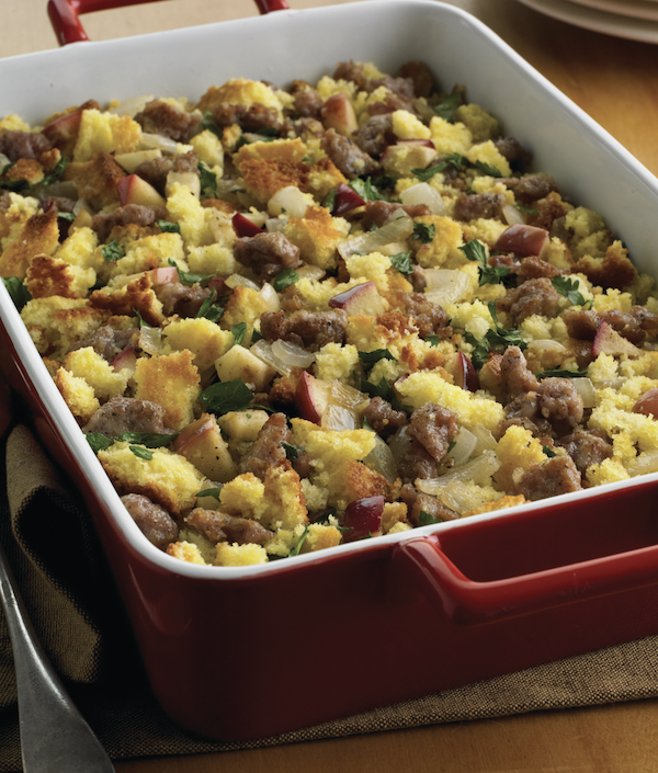 Cornbread-Sausage Stuffing With Apples