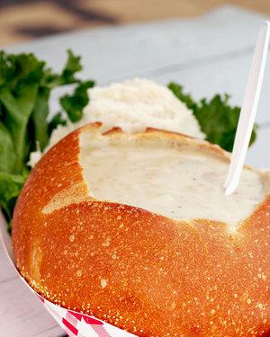 Potato Soup in Bread Bowls