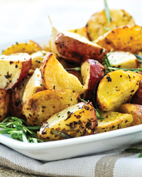 Roasted Red and Russet Potatoes