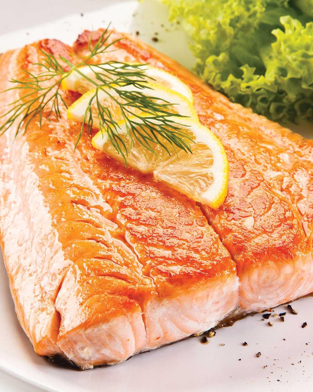 Broiled Sockeye Salmon with Citrus Glaze