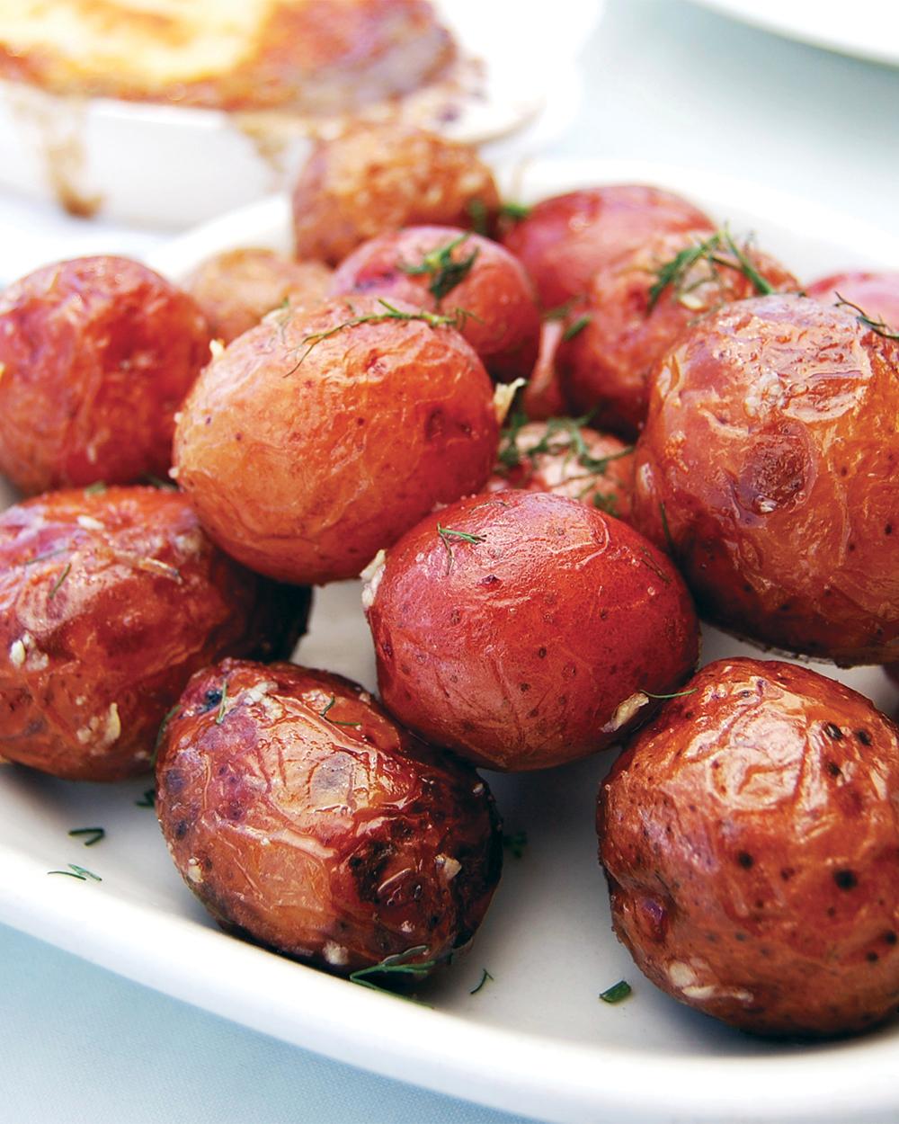 Garlic Roasted Klondike Rose Potatoes