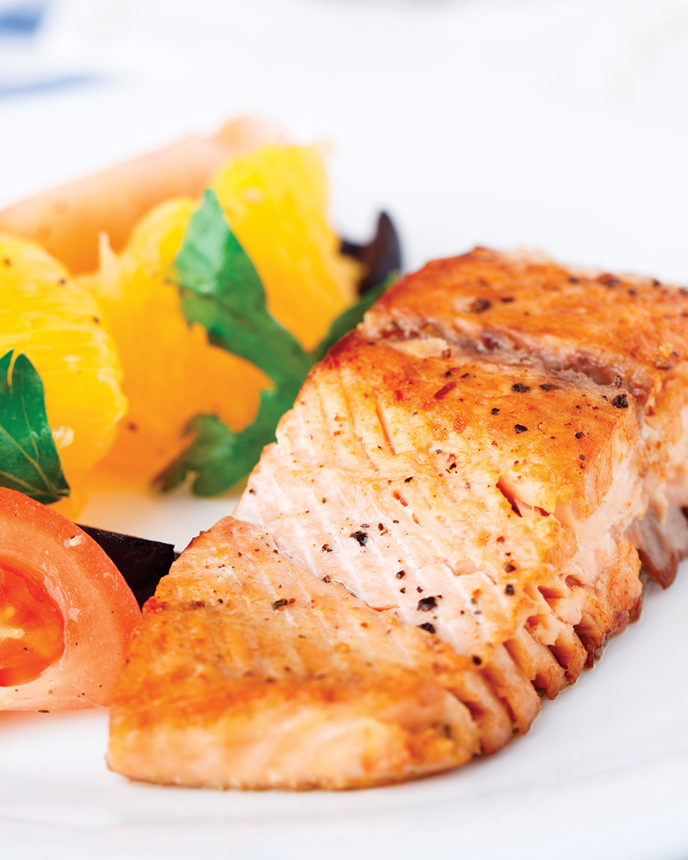 Broiled Salmon and Tomatoes