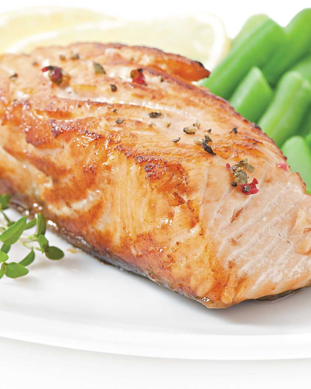 Broiled Salmon with Lemon and Rosemary