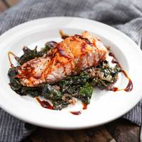 Pan-Fried Salmon with Swiss Chard
