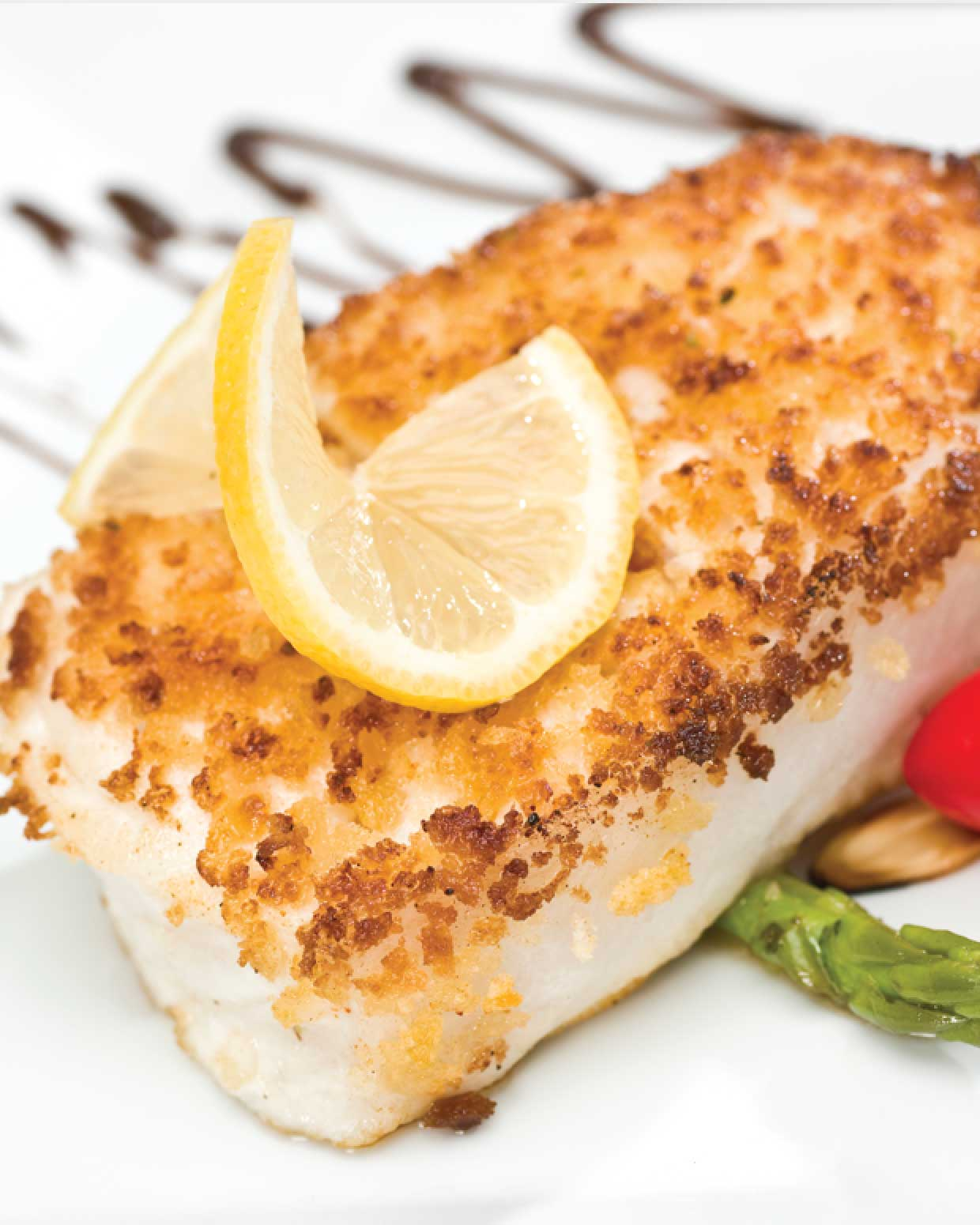 Sea Bass with Caper and Lemon Sauce