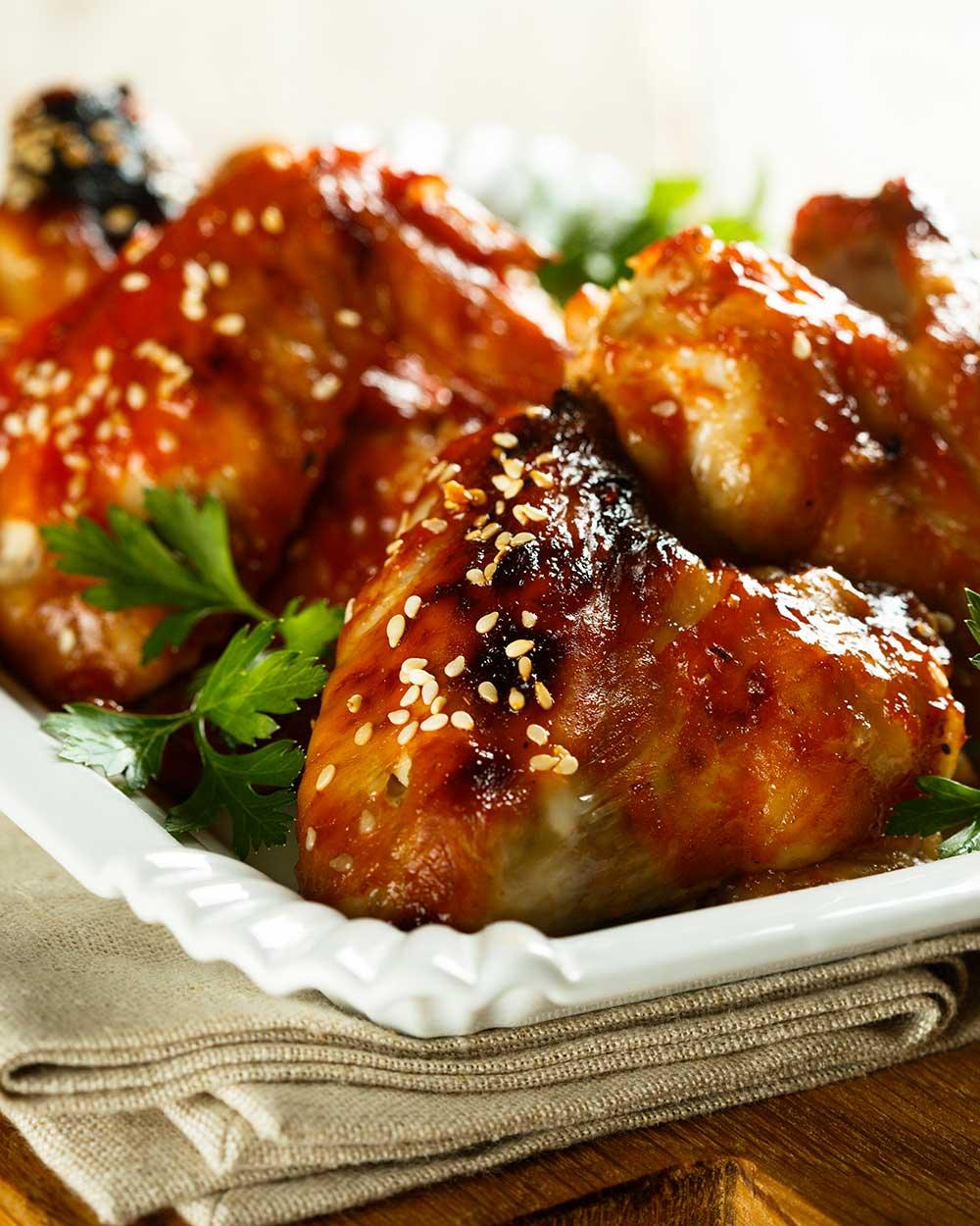 Orange Sesame Chicken Wings